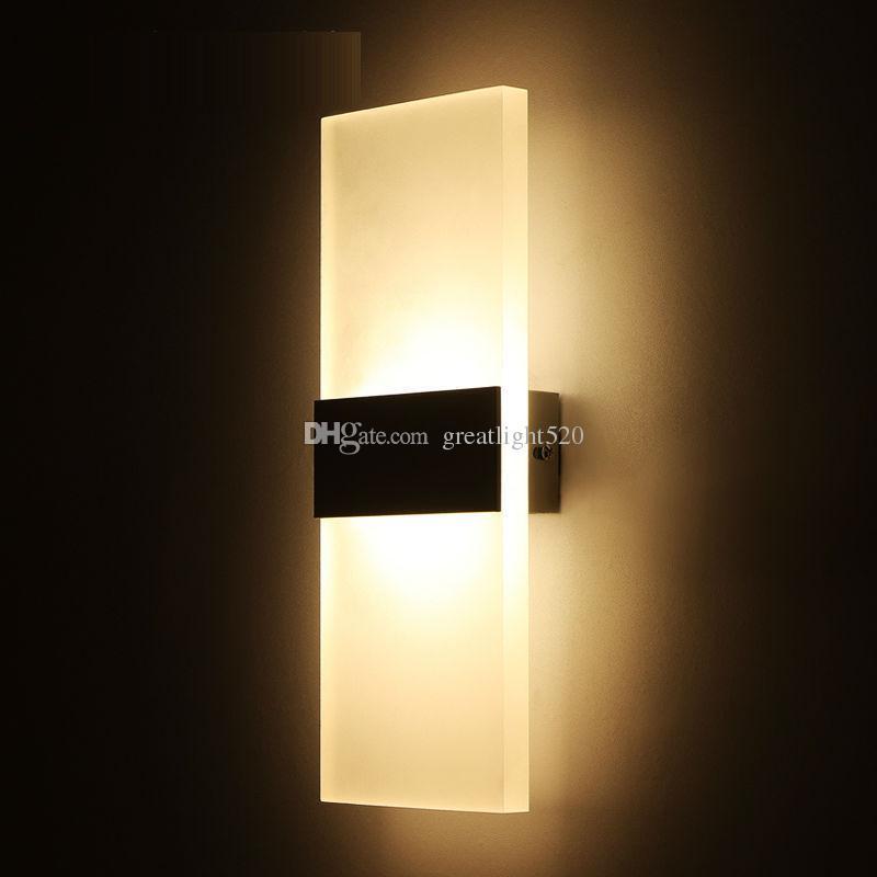 الاكريليك LED الجدار الشمعدانات مصباح LED في الأماكن المغلقة الجدار الخفيفة العتيقة مستطيل مغطاة ضوء جدار داخلي ضوء # 15
