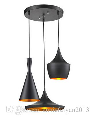 Vintage E27 220 V Größe 28 * 36 cm Single Head Eisen Metall Personal Technology Restaurant Café Pendelleuchten Lampe Innenleuchten