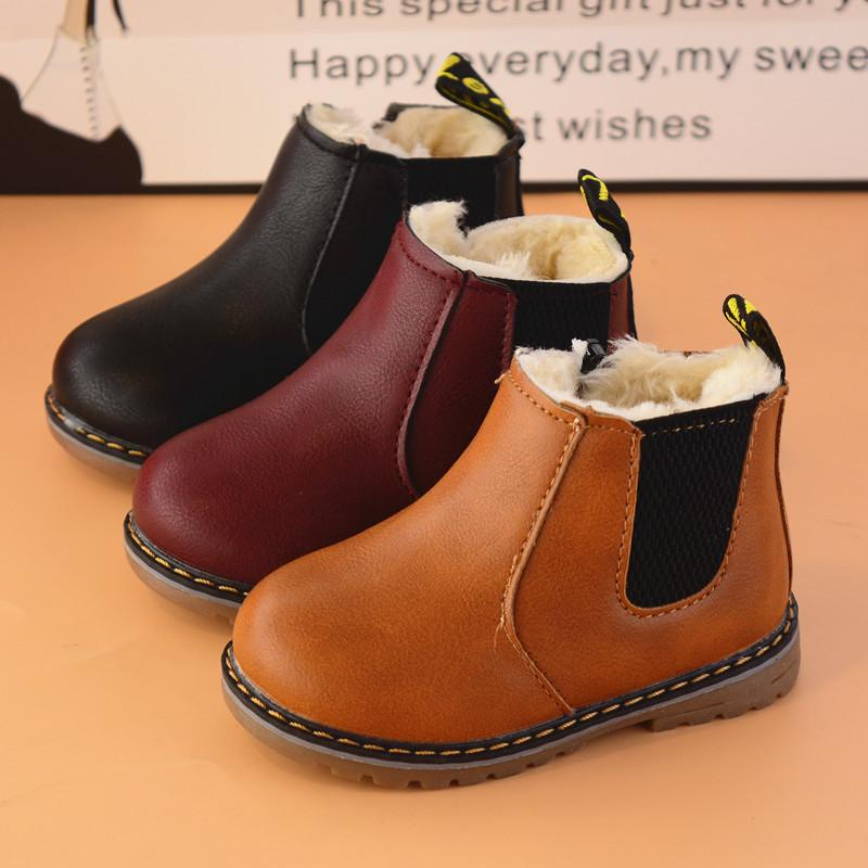 China Wholesale Brief Fashion Winter Kids Boots Zipper Leather Ankle Short  Thick Warm Shoes Boots Boys Girls Black Gray Brown EU 21 36 Kids Boots  Online ... 208f4fd29ae1