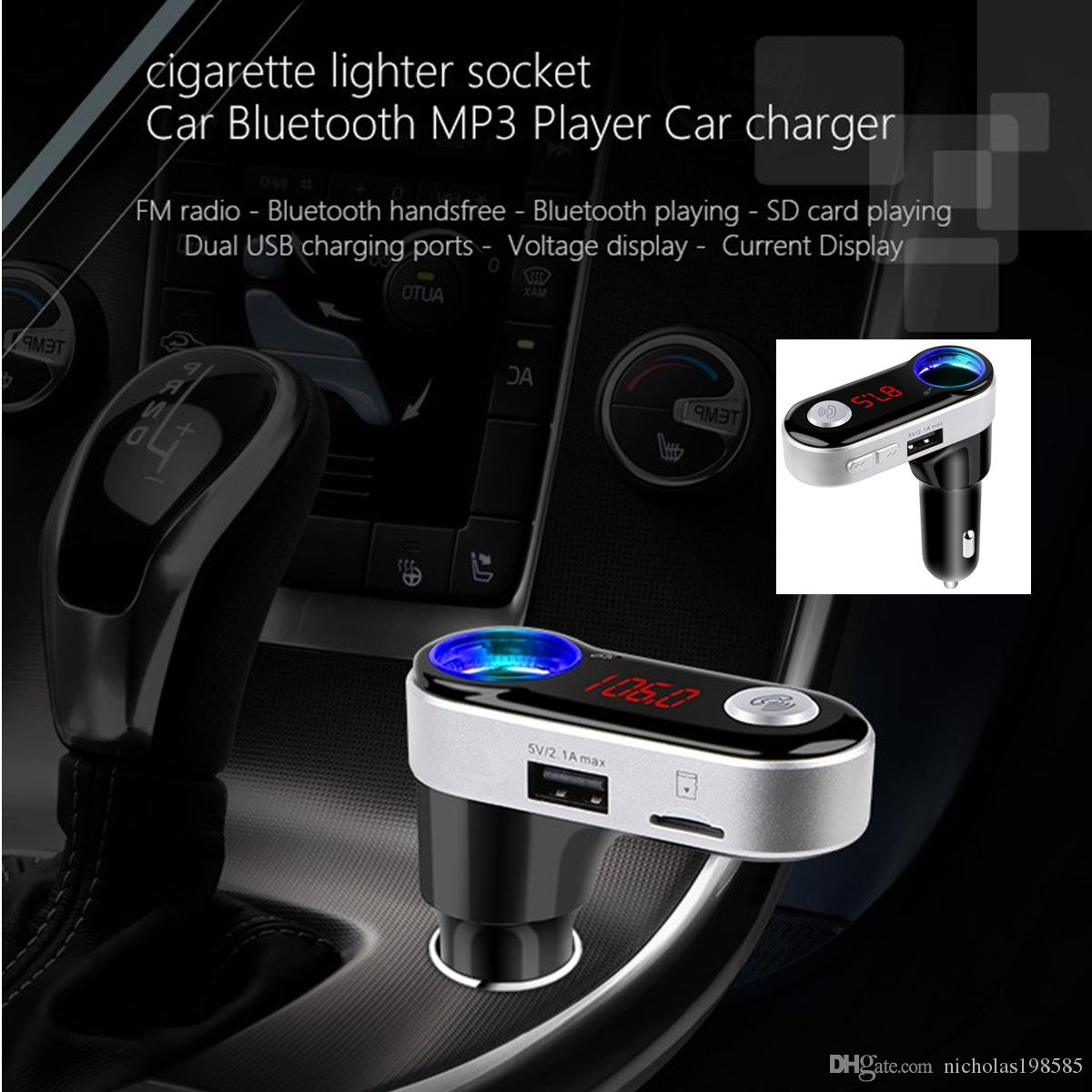 2019 bc09b dual usb car charger bluetooth car kit fm. Black Bedroom Furniture Sets. Home Design Ideas