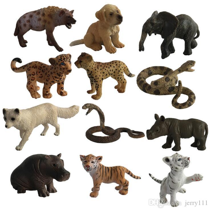 2019 Original Wild Life Zoo Jungle Animals Model 31 Designs Pvc
