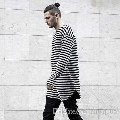 26fa1c03d86a9 Vintage Striped Long Sleeve T Shirt For Men Spring Autumn Cotton Long  Casual Tees Kanye West Hip Hop Streetwear S 3XL YYG0304 Mens T Shirts Funny  Shirts ...