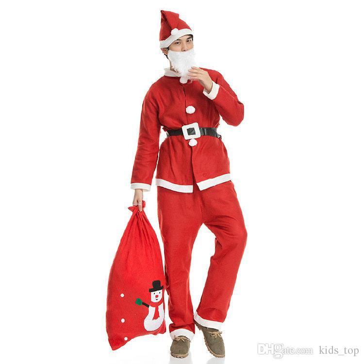 XMAS traje adulto Natal roupas de Papai Noel Terno Cosplay roupas de Natal em um terno conjunto