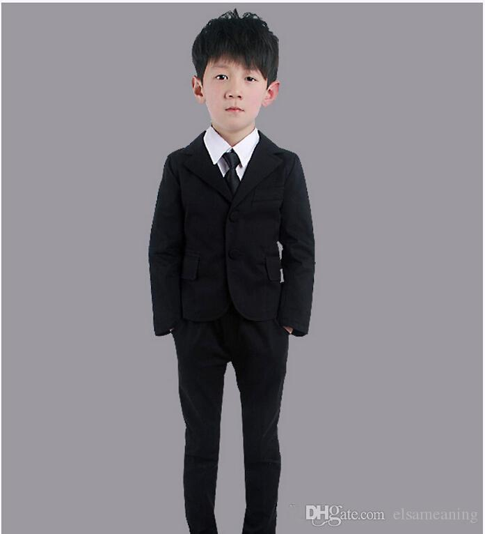 The little boy's most fashionable suit suits two-piece boys suit for formal occasions contracted fashion two-piece jacket+pants