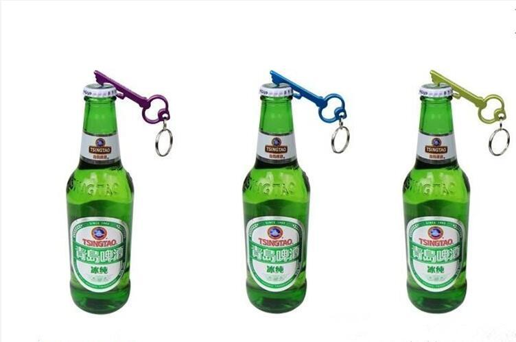 Personalisiertes Keychain Entwurf sollte Schlüsselanhänger-Aluminiumbier-Flaschen-Öffner für lustige Küche-Versorgungsmaterial-Stangen-Werkzeuge, die Bevorzugung Wedding sind