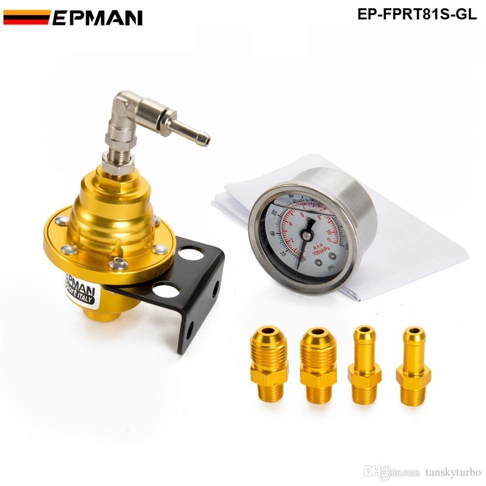 Epman Esporte Tipo S regulador de pressão de combustível ajustável FPR Universal JDM Turbo + Liquidor 0-160 PSI EP-FPRT81S