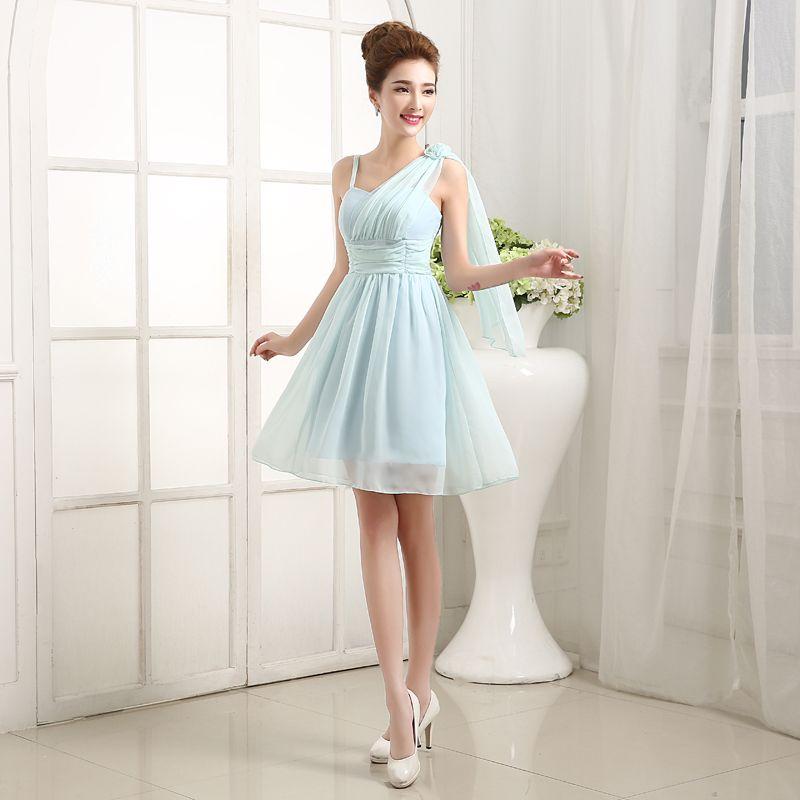 2016 Bridesmaid Dress Dance Party Preside Over One Shoulder Evening Dress Brief Paragraph cocktail dresses Party Dresses