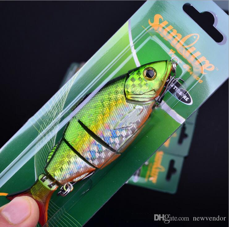 12.8cm 22g Multi Jointed Bass Plastic Fishing Lures Swimbait Sink Hooks Tackle high quality fishing lures