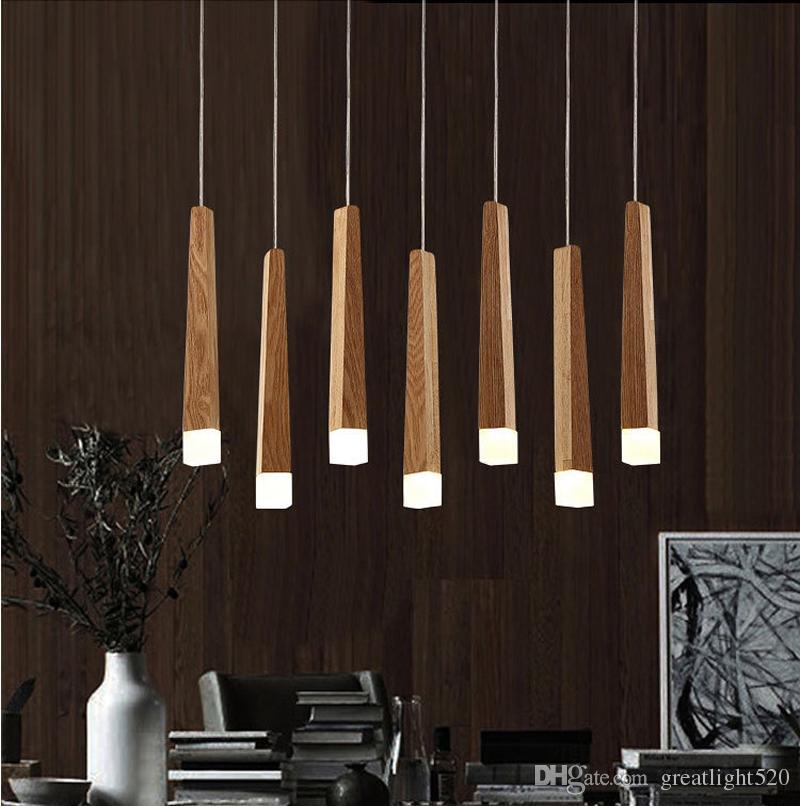 Wooden Matchstick Chandelier Acrylic LED Wood Bar Meteor Shower Pendant Light