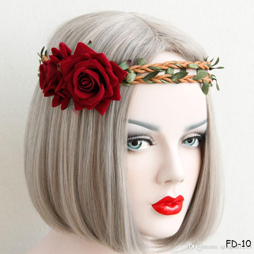 Princess Flower Headband Artificial Vine Crown Garland Hairband ... 40ccb8684c02