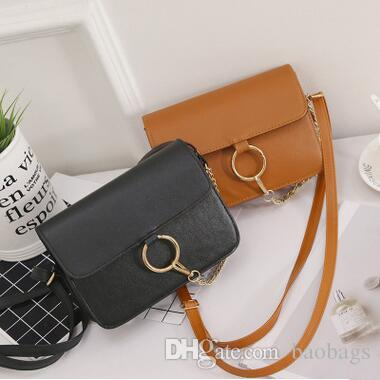 New Design Round Ring Chain Shoulder Bags Fashion Solid Women's Bags Sweety Pinky Color Small Phone Bags Free Shipping