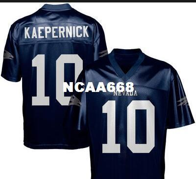 97fbc20ec Compre Hombres   10 Colin Kaepernick Nevada Wolf Pack Alumni Camiseta De  Fútbol O Camiseta Personalizada De Cualquier Nombre O Número A  16.18 Del  Ncaa668 ...