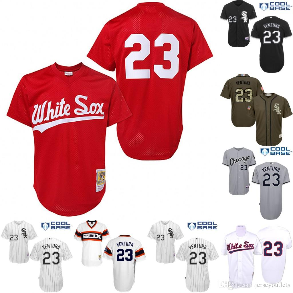 c50f13111 robin ventura 23 white authentic jersey sale