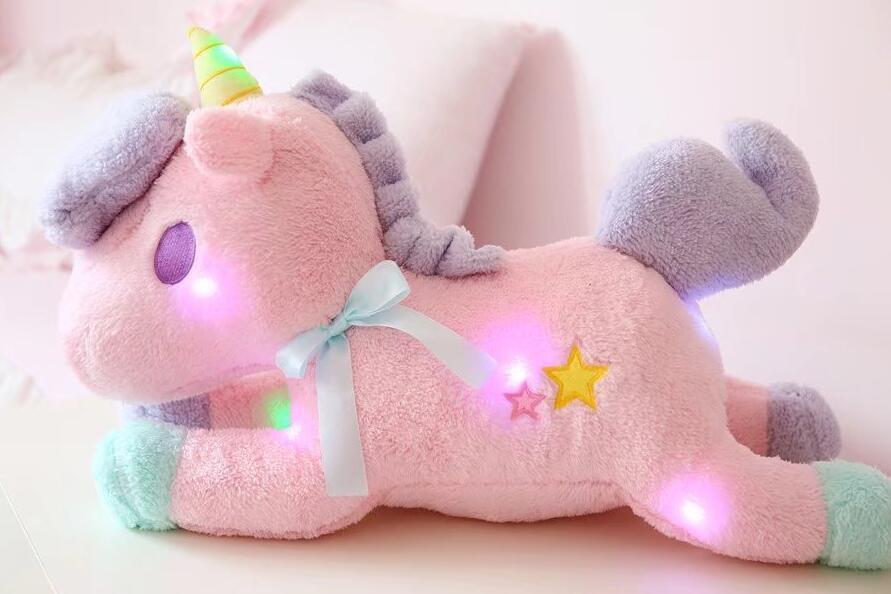 nooer luminous led light stuffed unicorn plush toy soft flashing stuffed animal unicornio doll children kids birthday gift from starone