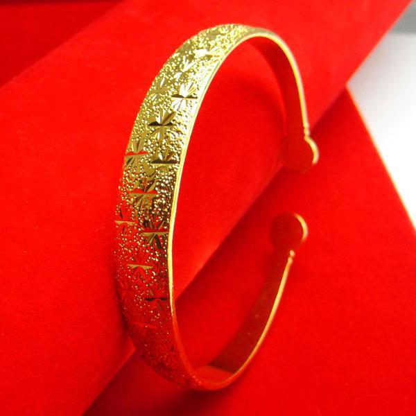 Colore oro braccialetto femminile oro 24K imitazione oro stelle bracciali regali madre apertura Hong Kong