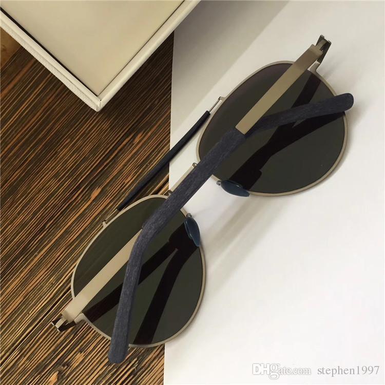New MYKITA Sunglasses Pilot Frame with Mirror Lens Ultra Light Frame Memory Alloy Sunglasses Cool Outdoor Design With Original Box