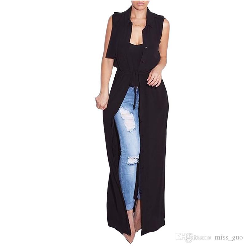 Women Chiffon Black Long Maxi Dress Boho Cardigan Jacket Coat ...