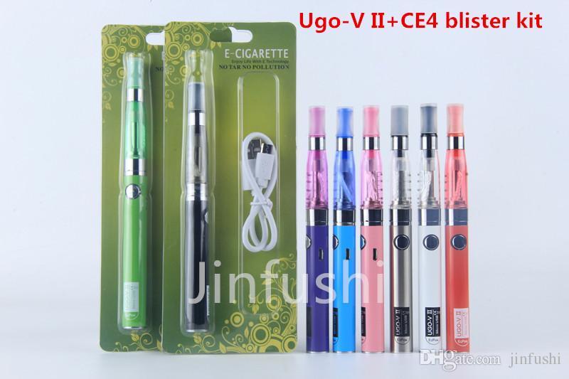 wax vaporizer pen eGo t battery vape starter kits eGo ugo-v 2 II CE4  blister starter kit VS ego ce4 starter kit