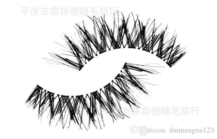 100 مجموعة رخيصة! 5 زوج / مجموعة الرموش الصناعية الأسود الصليب وهمية رمش الطبيعية طويلة المكياج العين لاش extensione وهمية الرموش x037