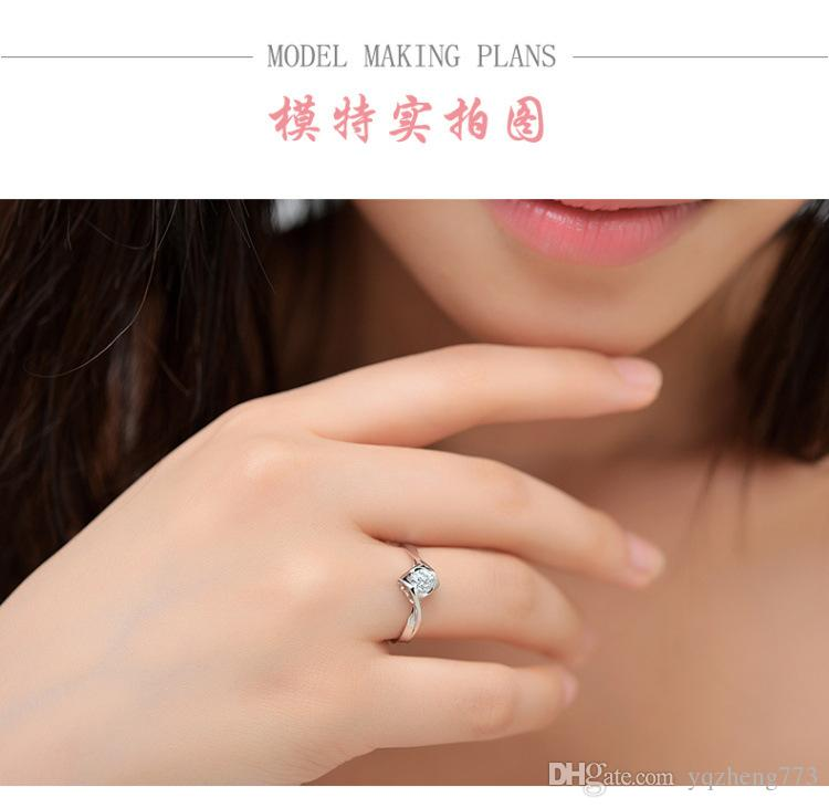 fashion jewelry silver ring for women's wedding rings 925 sterling silver jewelry wholesale factory price 123-541-4126