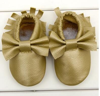Toddler Chaussures Bébé Enfants Bébé Nouveau-Né Chaussures Bébé Mocassins Chaussures 2016 Nouveau Cuir Glands Bow Doux Véritable Vache En Cuir Prewalker Livraison Gratuite