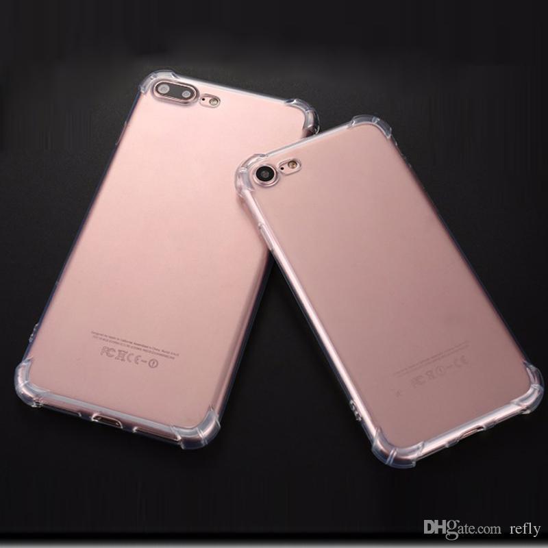 Etui antichoc de téléphone portable pour iPhone 8 iPhone 7 7S 6 6S Plus TPU clair couvercle de téléphone portable transparent de haute qualité
