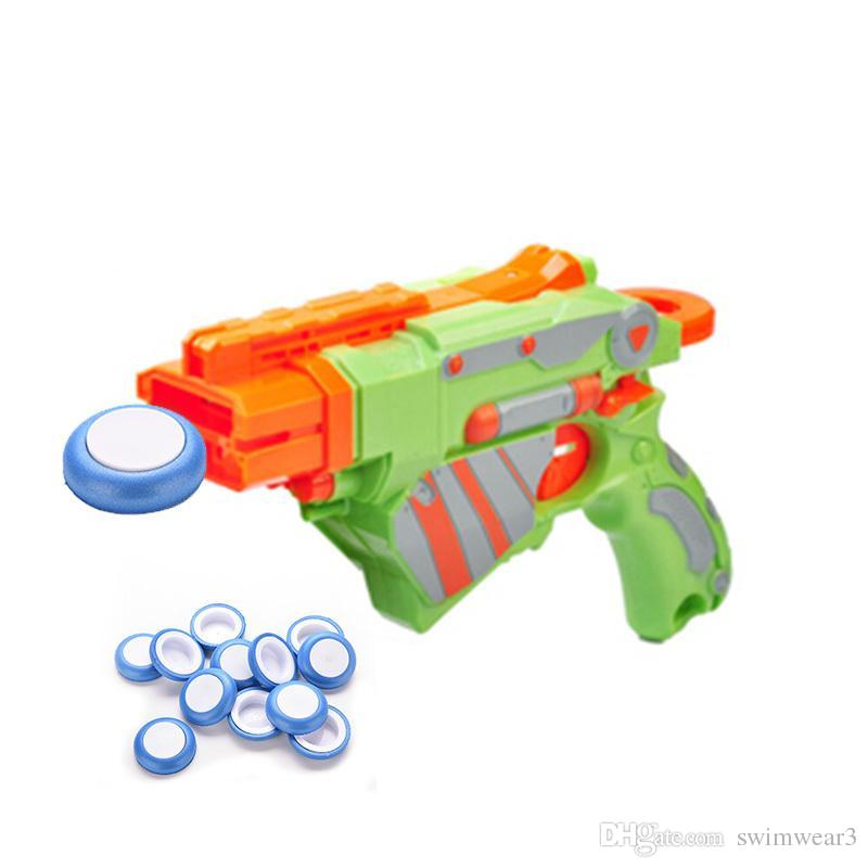 12 Pcs Mini Foam Frisbee Soft Disk Gun Bullets for Nerf Guntoys Blue for Kid Toy Guns