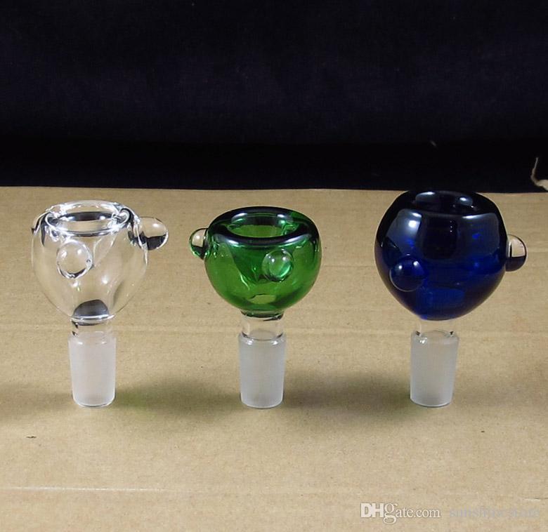 glazen kom dia gemengde kleuren roken rook waterpijp bong essen catcher bubbler gratis verzending groothandel 14mm en 19mm