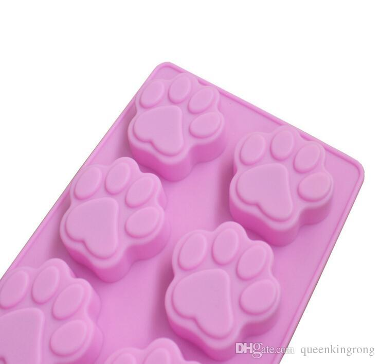 The Silicone Cake Mould soap Mold Baking Mould Cat Paw Silicon Molds Cake Decorating tools kitchen tool accessories