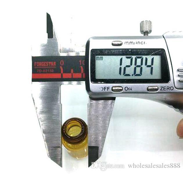 Fabrik Preis 2 ml Braunglasflaschen Mit Kunststoff inneren abdeckung für Parfüm Kosmetik und Gold Metall Caps