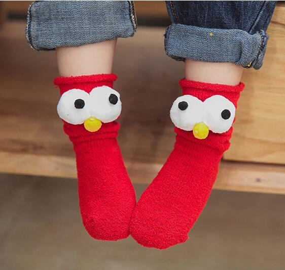 Christmas Socks Korea Socks Big Eyes Novelty Baby Socks Thicken ...