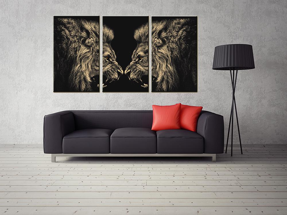 Modern Home Decor Canvas Painting Wall Art Painting of Lion Giclee Print Decorative Picture for Living Room