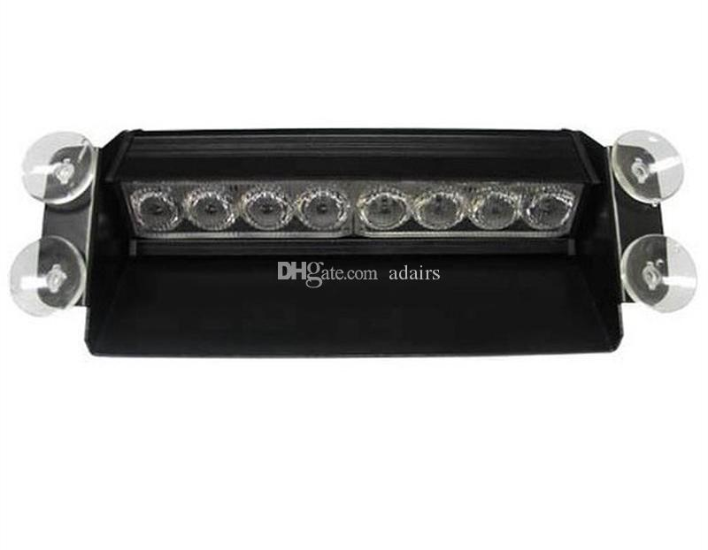 Nuovo Styling 8 LED Rosso / Blu Police Strobe Flash Light Dash Emergency 3 Fendinebbia lampeggianti