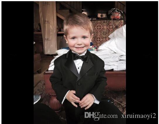 Elegante Kid Boy Nedo Do Casamento / Meninos Smoking / Menino Blazers / Senhores Boys Ternos para Casamentos Casaco + Calças + Tie + Cinturão + Camisa