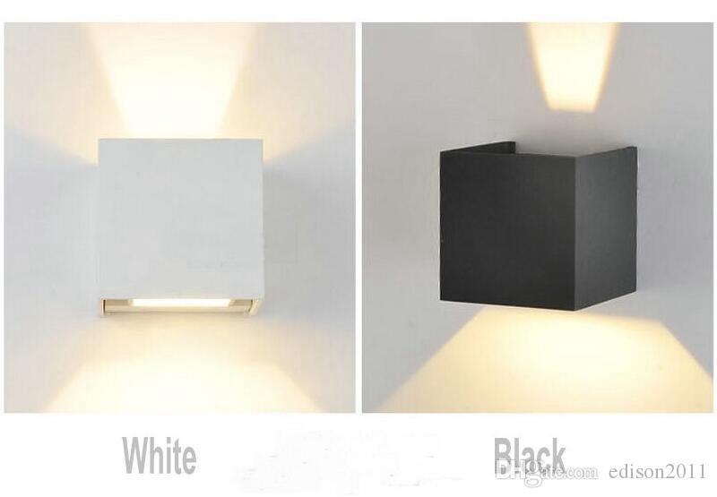 Edison2011 Modern Kısa Küp Ayarlanabilir Yüzey Monte LED Duvar Lambaları Açık Su Geçirmez IP65 Alüminyum Duvar Yukarı Aşağı Bahçe Işıkları Işıkları