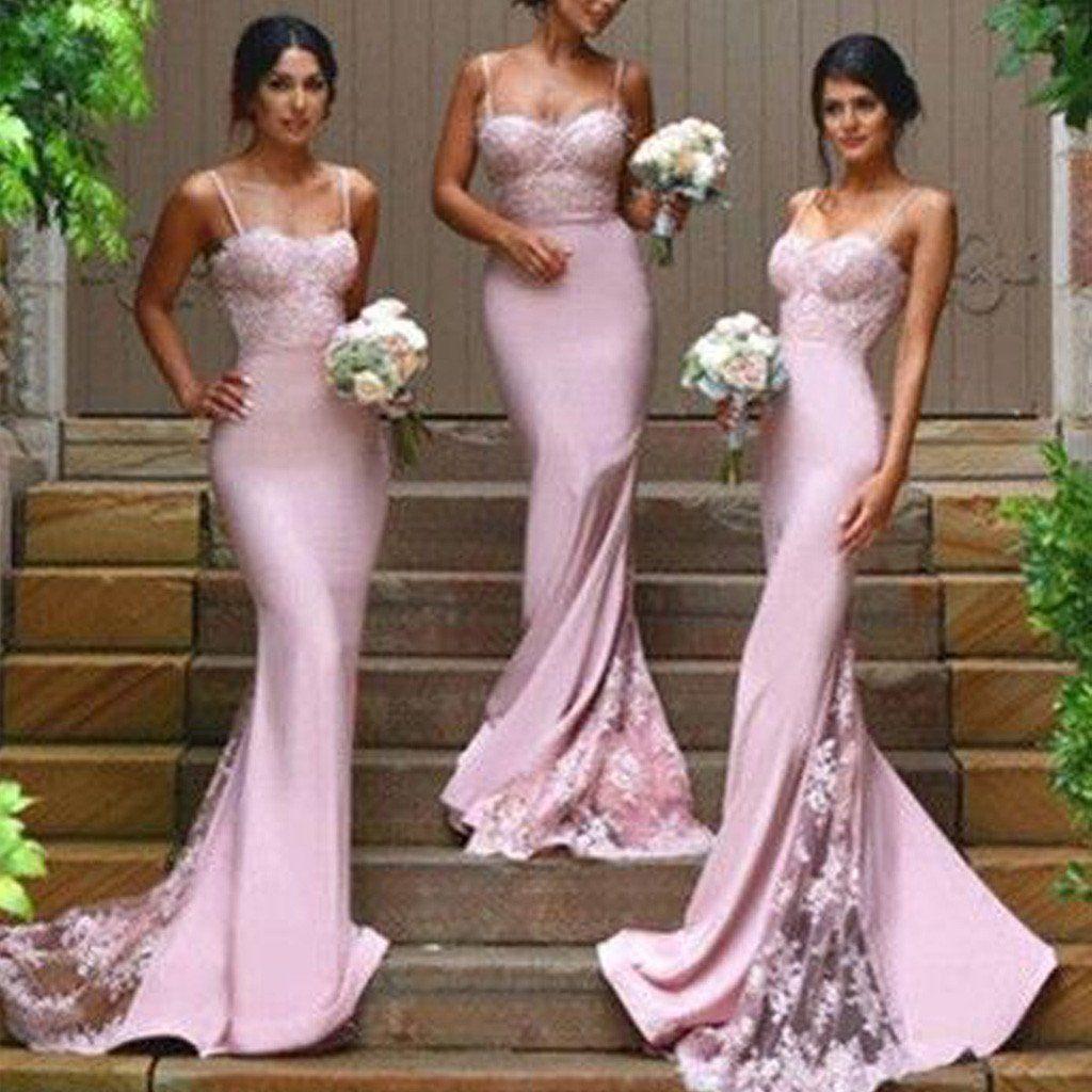 Light Brown Bridesmaid Dresses | Mermaid Lace Long Bridesmaid Dresses 2017 New Light Purple Sexy