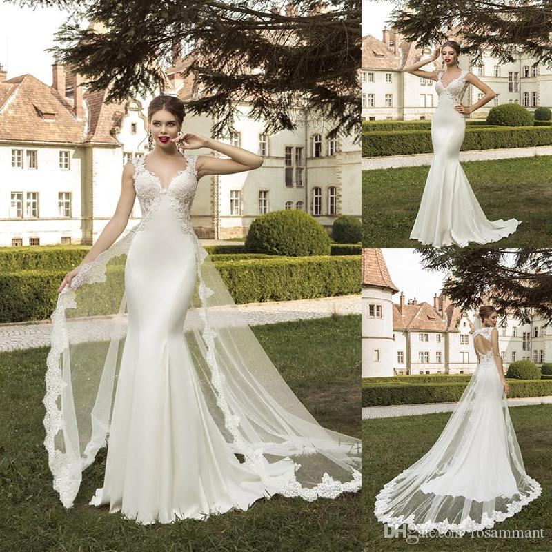 Detachable Trains For Wedding Gowns: 2019 New Lace Mermaid Wedding Dresses Sweetheart