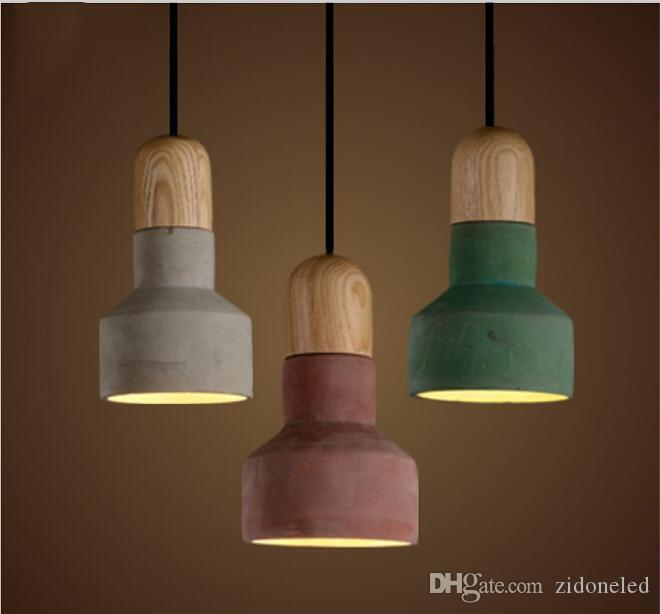 japanese style lighting. Japanese Style Led Pendant Ligth Cement Hanging Lights Lampshade Restaurant Vintage Chandeliers Ceiling Online Light Parts Lighting W