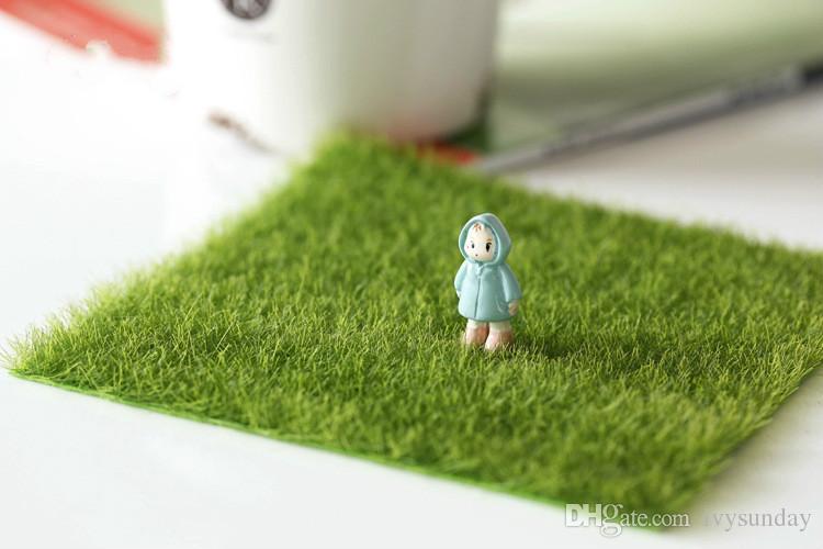 Artificial Moss Grass Lawn 15*15/30*30cm Micro Landscape Decor DIY Mini Fairy Garden Simulation Moss Pseudo Turf Home Creative Jewelry