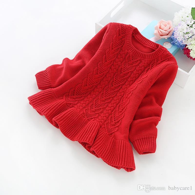 d0a0ddb24 New Winter Children S Clothing 2 5 Years Girls Solid Color Cotton ...