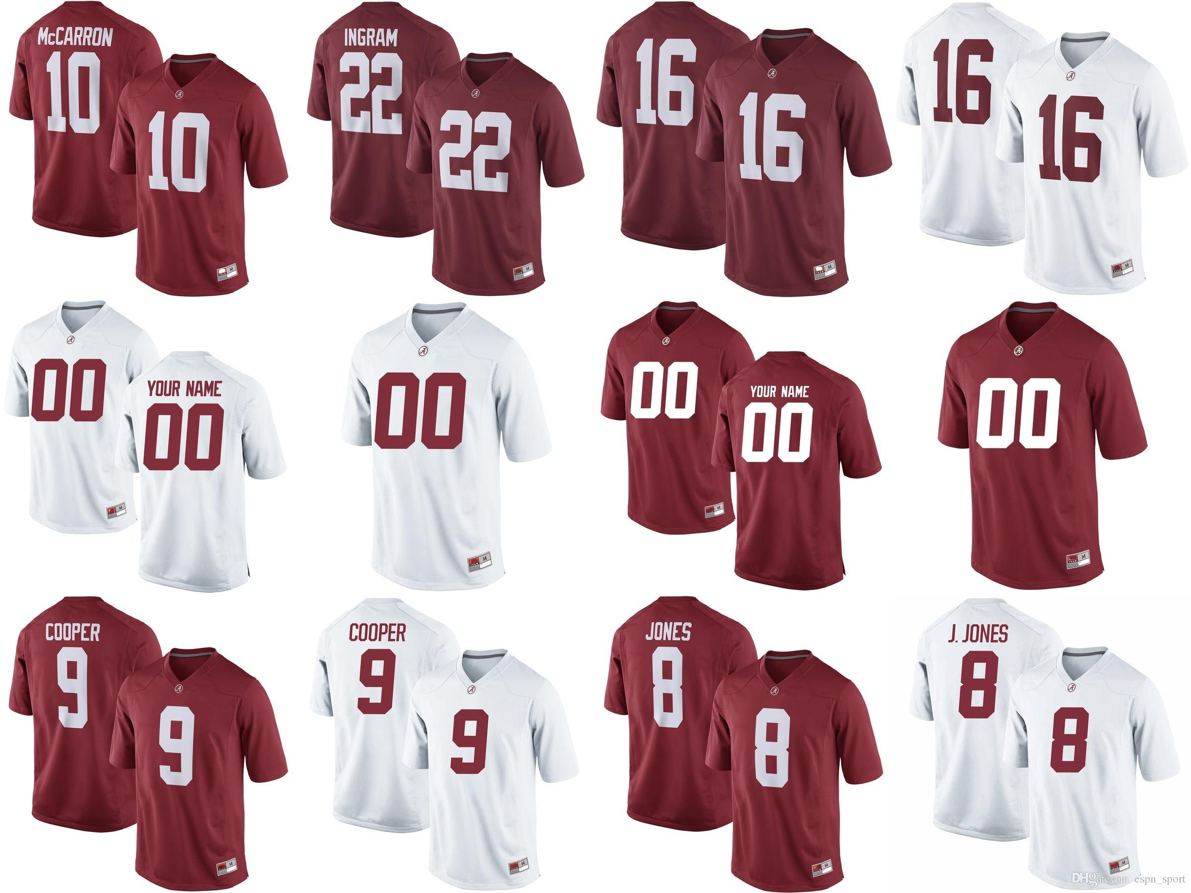 78601a9e0 2019 Mens Womens Kids NCAA Alabama Crimson Tide 8 Julio Jones 9 Amari  Cooper 10 AJ McCarron Custom Any Name No. Football College Jerseys From  Espn sport