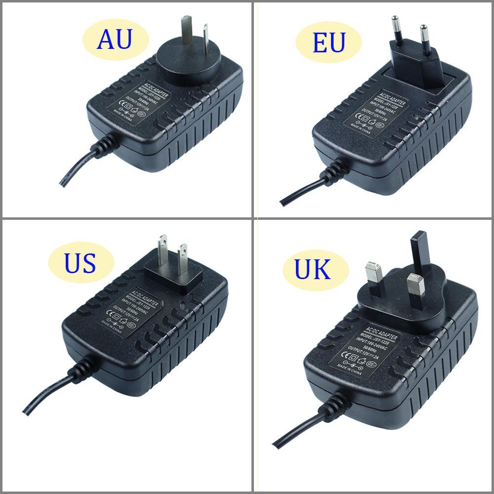 DC12V 2A AC100-240V Strip light Power Supply Converter Adapter power 12V drive AU EU US UK
