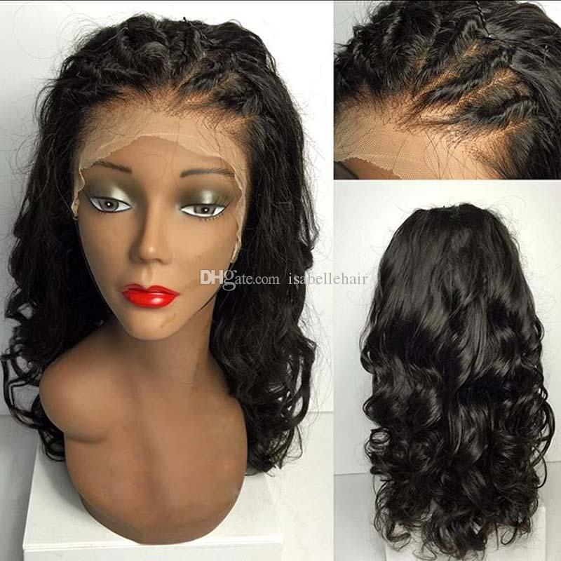 9A Grade Human Hair Wigs For Black Women Natural Hairline Brazilian Lace  Front Wigs Baby Hair Loose Wave Full Lace Wigs Bleached Knots Cheap Full Lace  Wigs ... 89882b5d6a