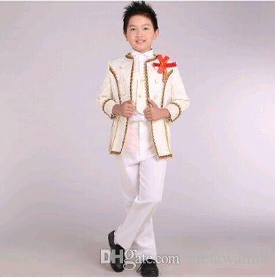 Free Ship Children S Boys Medieval Suit With Trousers Stage Suit