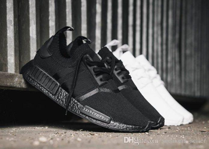 New NMD Japan Pack Triple White BZ0221 Triple Black BZ0220 Real Boost NMD  R1 Primeknit Running Shoes Small Nipples Boost With Box Running Spikes  Track Shoes ... c67df974a653