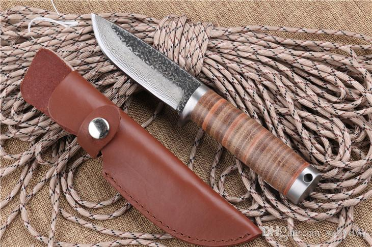Damascus A39 Handmade Straight Knife Forged Steel Tactical Sharp Knife High Carbon Pattern Steel Fixed Blade Knife