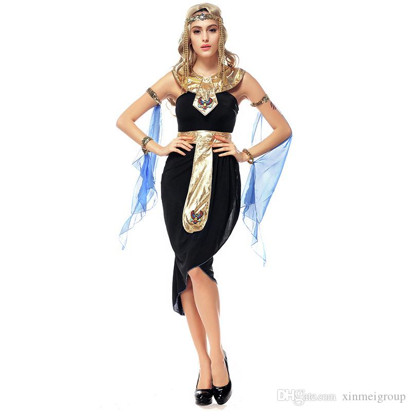 256ce9302 Halloween Fantastic Greek Goddess Dress Role Playing Indian Dance  Performance Dress Egyptian Queen Cleopatra Masquerade Costumes W542805 A  Team Costume ...