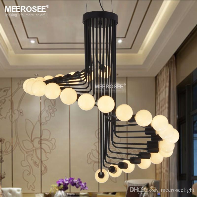 Modern Loft Industrial Chandelier Lights Bar Stair Dining Room Lighting  Retro Meerosee Chandeliers Lamps Fixtures Lustres Chandeliers For Bedrooms  ...