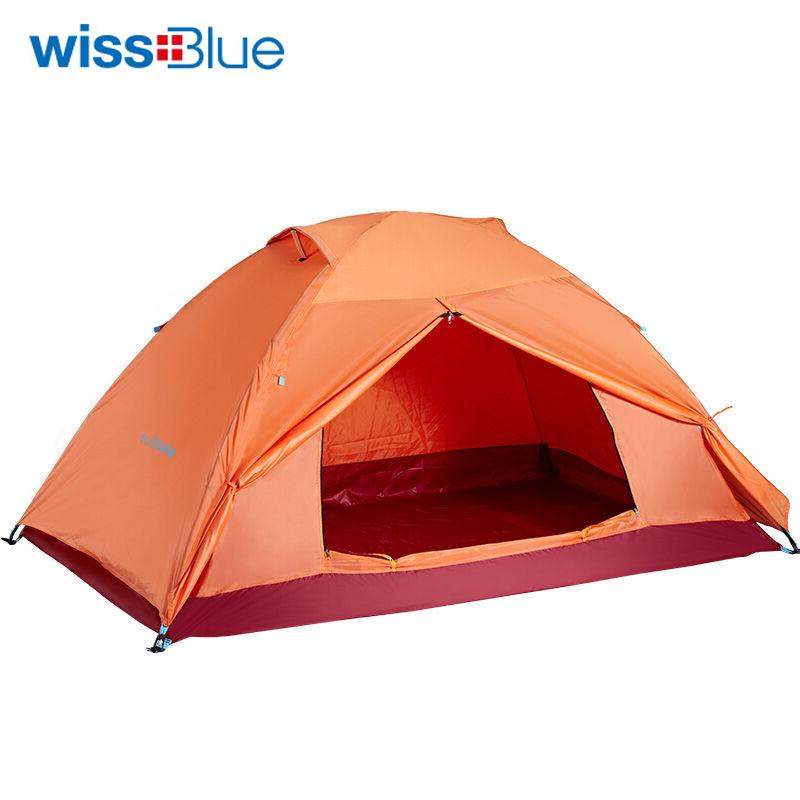 Wholesale- Wissblue Camping Ultralight Family Tent for Fishing Hunting Outdoor Recreation Pop Up Waterproof Tourist Portable Sunshade Tents