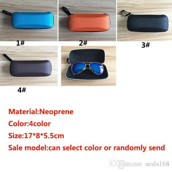 Women Men Portable Casual Hard Rectangle Grid Zipper Eyeglasses Case Box 17*8*5.5cm Health Beauty Accesories ZJ-C06